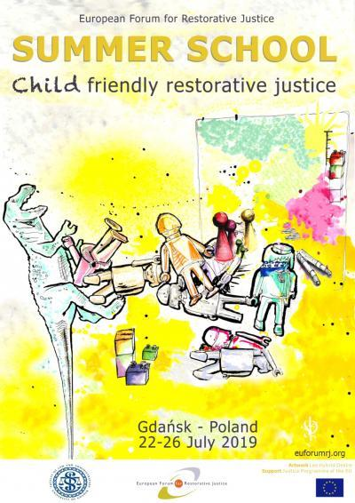 Toys on the Poster of the Summer School on Child Friendly Restorative Justice