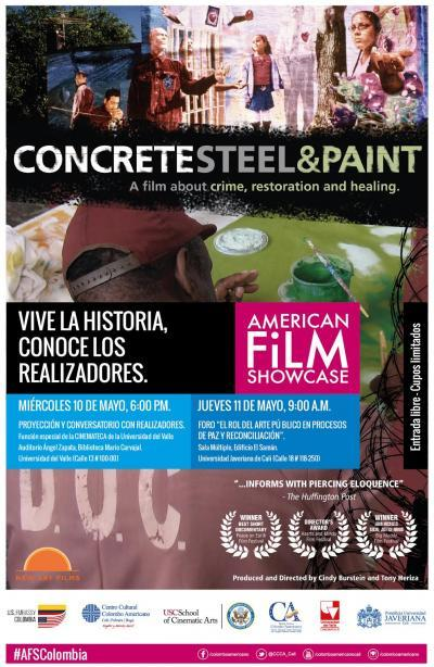 Concrete steel and paint movie poster