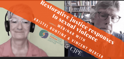 Cover image with the title of the webinar and screenshot of Kristel Buntinx and Vincent Mercer during the webinar