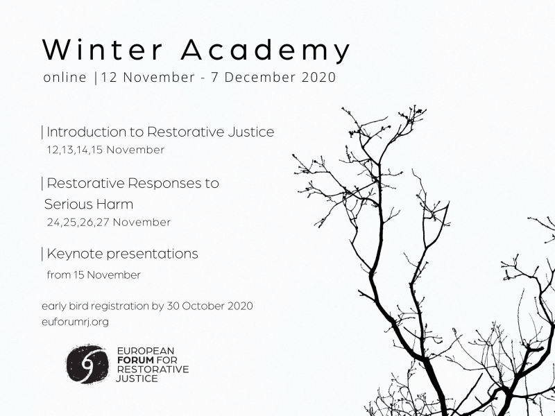 Winter Academy flyer: information and a branch